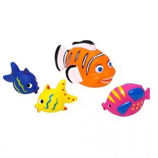 Edco - Badefiguren Fische 4-tlg großer Fisch orange