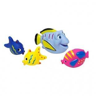 Edco - Badefiguren Fische 4-tlg großer Fisch blau