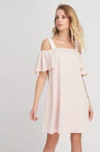Shoulder-Cut-Out Kleid