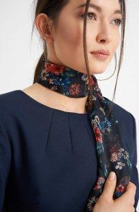 Chiffon-Halstuch mit Blumen-Muster