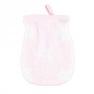 LITTLE Waschhandschuh Frottier Sterne, rosa