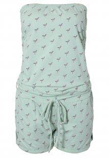 Bandeau Jumpsuit - Flamingos