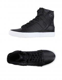 SUPRA Herren High Sneakers & Tennisschuhe Farbe Schwarz Größe 1