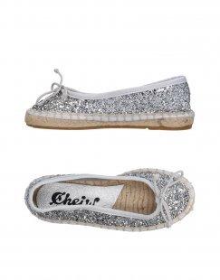 CHEIW Mädchen 3-8 jahre Espadrilles Farbe Silber Größe 15