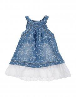 NAME IT® Mädchen 0-24 monate Kleid Farbe Blau Größe 4