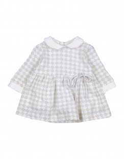 ALETTA Mädchen 0-24 monate Kleid Farbe Hellgrau Größe 2