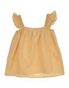 TOCOTO VINTAGE Mädchen 0-24 monate Kleid Farbe Sand Größe 3