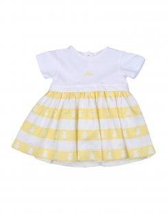 LE BEBÉ Mädchen 0-24 monate Kleid Farbe Weiß Größe 4