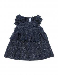 ALETTA Mädchen 0-24 monate Kleid Farbe Dunkelblau Größe 2