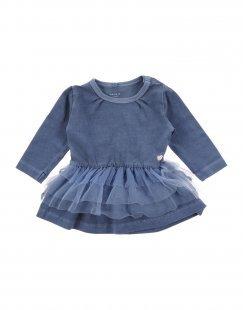NAME IT® Mädchen 0-24 monate Kleid Farbe Taubenblau Größe 4