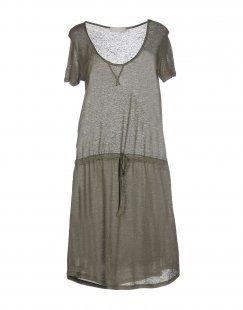 STEFANEL Damen Kurzes Kleid Farbe Militärgrün Größe 4