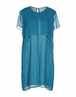 STEFANEL Damen Kurzes Kleid Farbe Tūrkis Größe 4