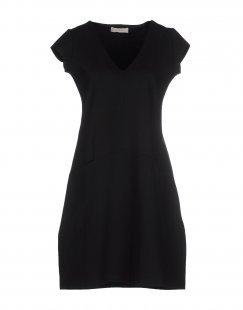 STEFANEL Damen Kurzes Kleid Farbe Schwarz Größe 5