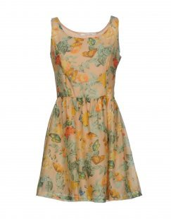 GIORGIA & JOHNS Damen Kurzes Kleid Farbe Sand Größe 1