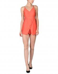 ALMAGORES Damen Kurzer Overall Farbe Orange Größe 4