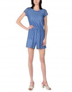 DRY LAKE. Damen Kurzer Overall Farbe Blaugrau Größe 6