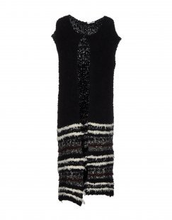 BIANCOGHIACCIO Damen Strickjacke Farbe Schwarz Größe 6