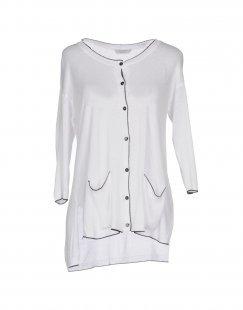 BIANCOGHIACCIO Damen Strickjacke Farbe Weiß Größe 6