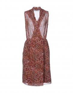 BGN BEGGON Damen Knielanges Kleid Farbe Bordeaux Größe 6