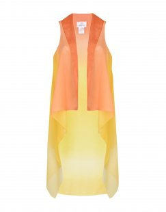 GEORGE J. LOVE Damen Strandkleid Farbe Gelb Größe 1