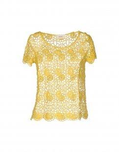 VICOLO Damen Bluse Farbe Gelb Größe 4
