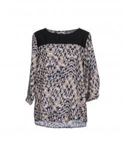 JACQUELINE de YONG Damen Bluse Farbe Blau Größe 4