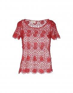 VICOLO Damen Bluse Farbe Ziegelrot Größe 5