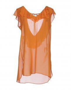 BIANCOGHIACCIO Damen Bluse Farbe Orange Größe 3