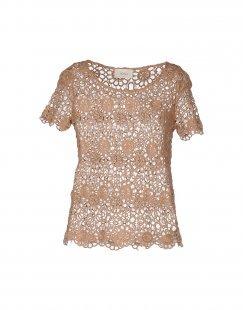 VICOLO Damen Bluse Farbe Braun Größe 4