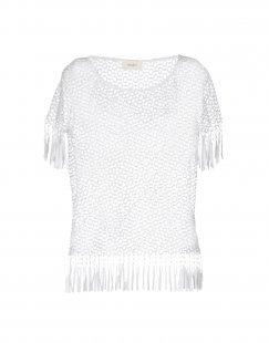 VICOLO Damen Bluse Farbe Weiß Größe 4