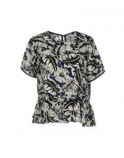 SUNCOO Damen Bluse Farbe Dunkelblau Größe 1