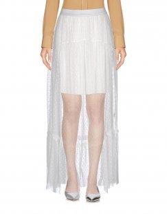 NINA VON T. Damen Maxirock Farbe Weiß Größe 6