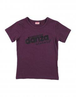 DIMENSIONE DANZA SISTERS Mädchen 3-8 jahre T-shirts Farbe Pflaume Größe 4