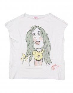 AMELIA Mädchen 3-8 jahre T-shirts Farbe Weiß Größe 4