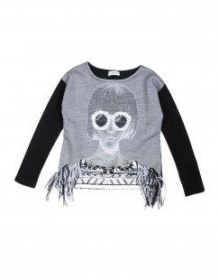 PINKO UP Mädchen 3-8 jahre T-shirts Farbe Granitgrau Größe 4