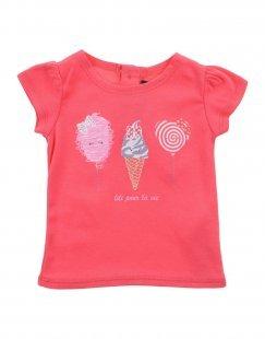LILI GAUFRETTE Mädchen 0-24 monate T-shirts Farbe Koralle Größe 3