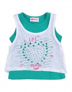 GAS Mädchen 0-24 monate T-shirts Farbe Grün Größe 5