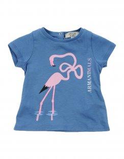 ARMANI JUNIOR Mädchen 0-24 monate T-shirts Farbe Blau Größe 4