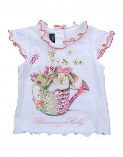MISS BLUMARINE JEANS Mädchen 0-24 monate T-shirts Farbe Weiß Größe 3