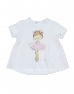 LE BEBÉ Mädchen 0-24 monate T-shirts Farbe Weiß Größe 4