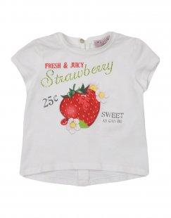 MONNALISA BEBE´ Mädchen 0-24 monate T-shirts Farbe Weiß Größe 4