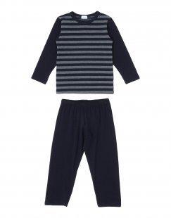 GRIGIO PERLA Jungen 3-8 jahre Pyjama Farbe Dunkelblau Größe 2