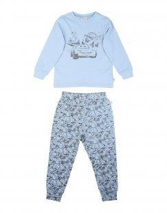 WHEAT Jungen 3-8 jahre Pyjama Farbe Himmelblau Größe 4