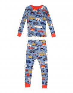 HATLEY Jungen 3-8 jahre Pyjama Farbe Taubenblau Größe 3