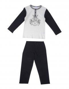 GRIGIO PERLA Jungen 3-8 jahre Pyjama Farbe Elfenbein Größe 2