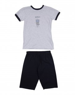 STORY LORIS Jungen 3-8 jahre Pyjama Farbe Hellgrau Größe 2