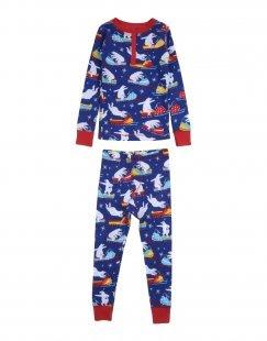 HATLEY Jungen 3-8 jahre Pyjama Farbe Blau Größe 1