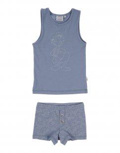 WHEAT x DISNEY Jungen 3-8 jahre Pyjama Farbe Taubenblau Größe 1
