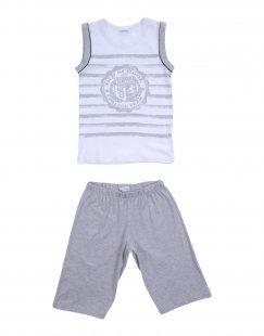 GRIGIO PERLA Jungen 3-8 jahre Pyjama Farbe Weiß Größe 3