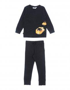MOLO Jungen 3-8 jahre Pyjama Farbe Schwarz Größe 1
